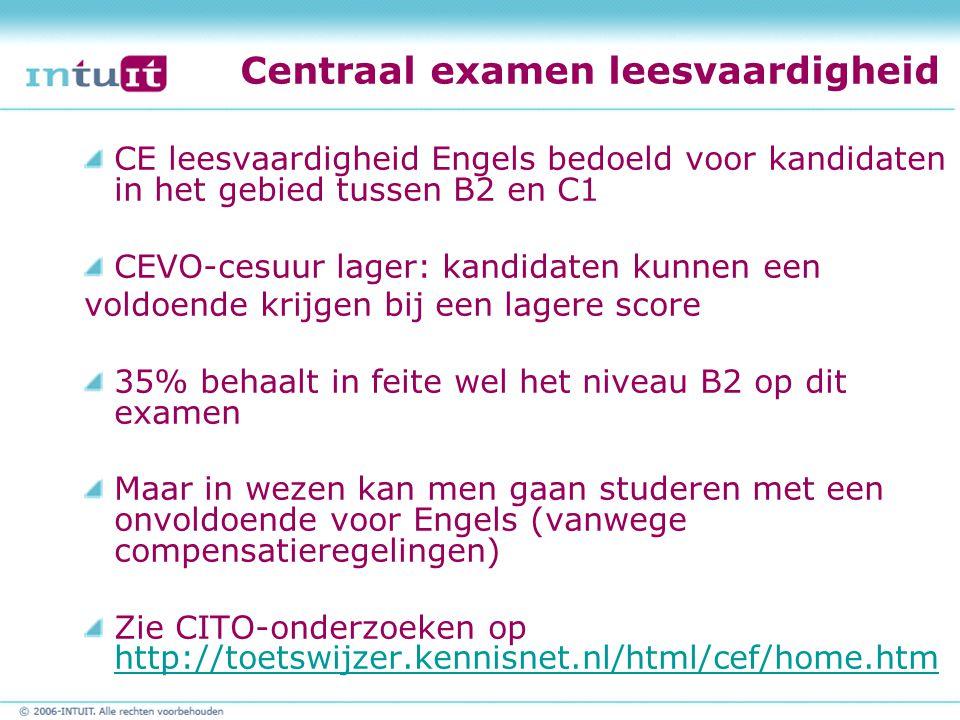 Centraal examen leesvaardigheid