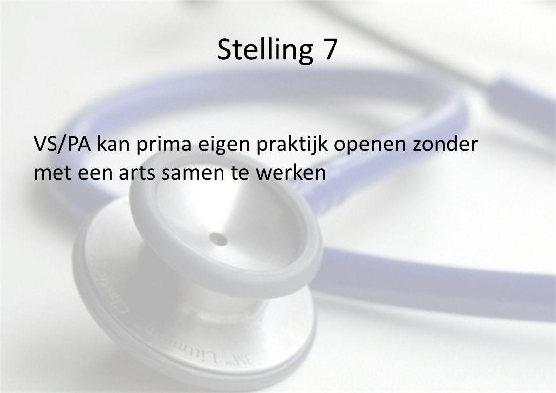 Stelling 7 VS/PA kan prima eigen praktijk openen zonder met een arts samen te werken