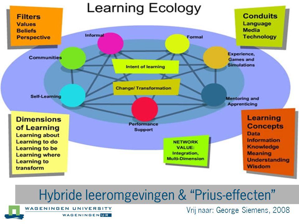 Hybride leeromgevingen & Prius-effecten
