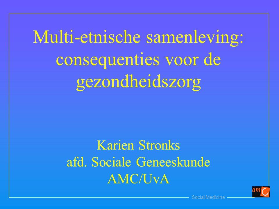Multi-etnische samenleving: consequenties voor de gezondheidszorg