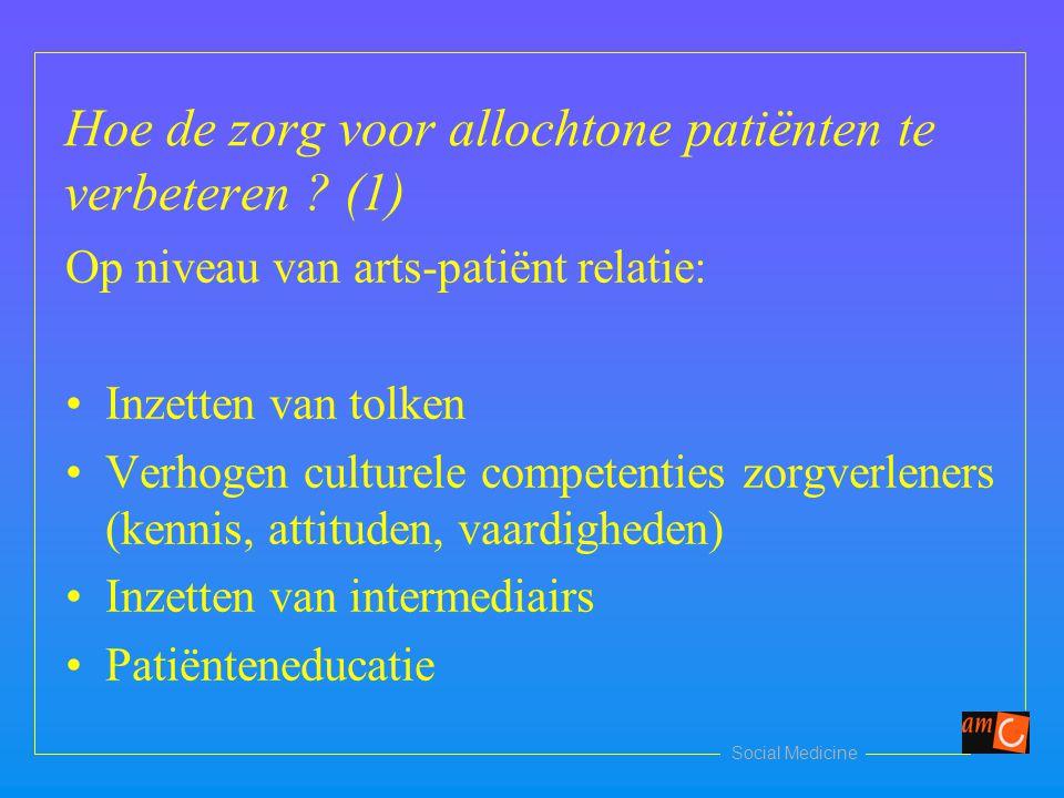 Hoe de zorg voor allochtone patiënten te verbeteren (1)
