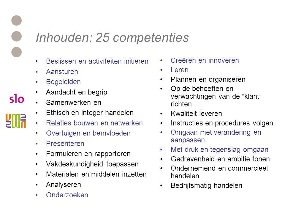 Inhouden: 25 competenties