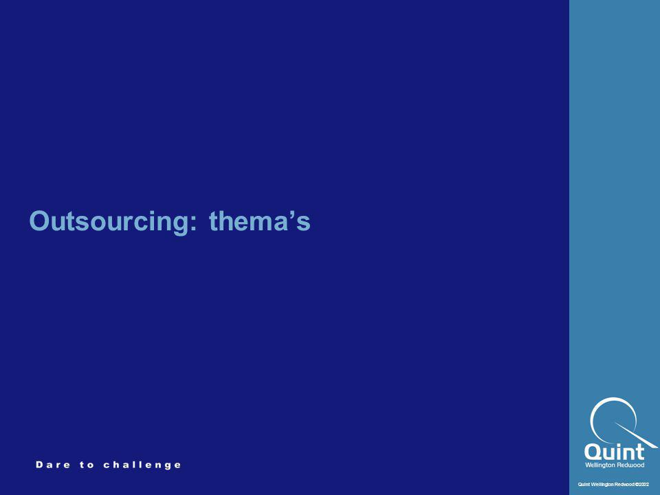 Outsourcing: thema's