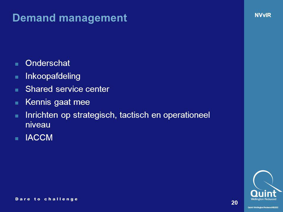 Demand management Onderschat Inkoopafdeling Shared service center