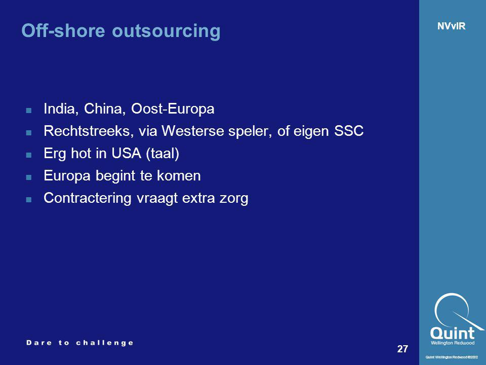 Off-shore outsourcing