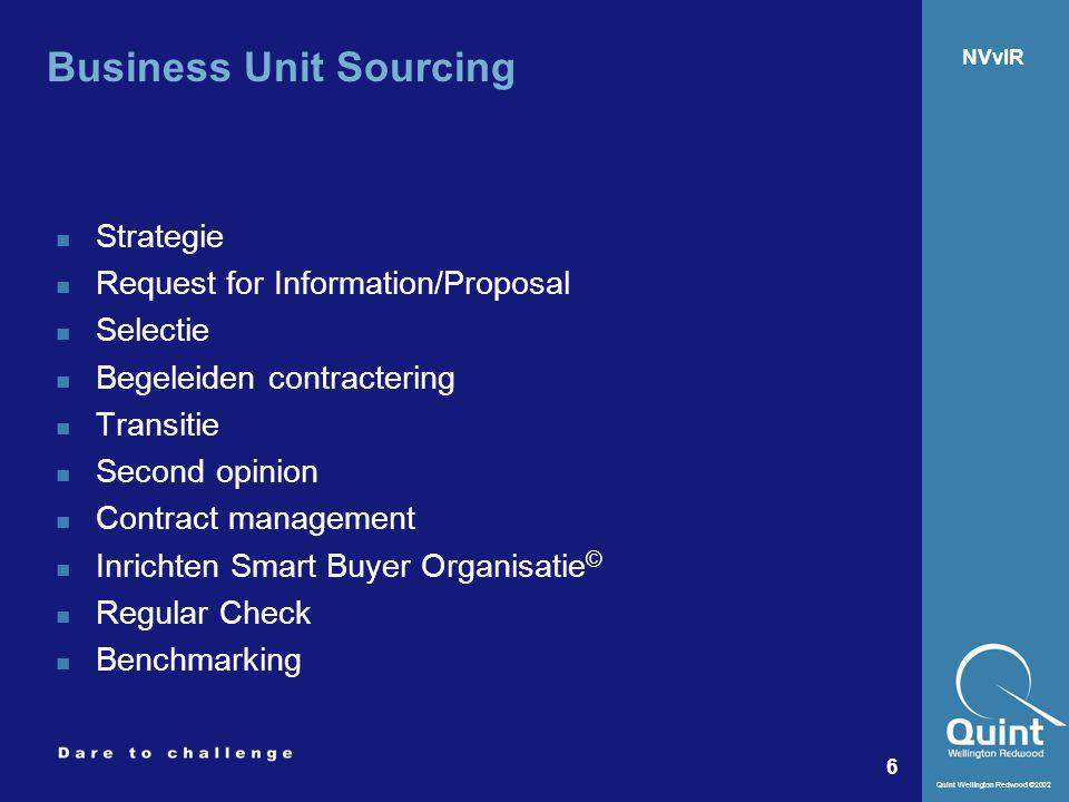 Business Unit Sourcing