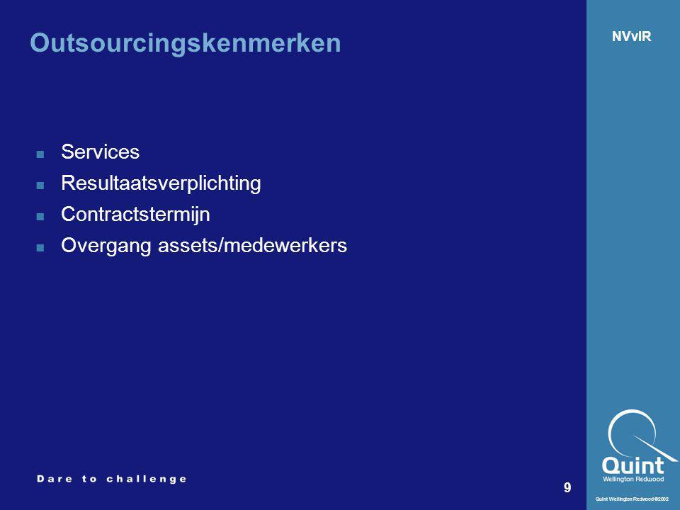 Outsourcingskenmerken