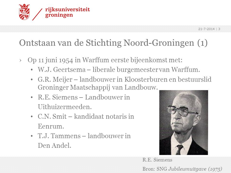 Ontstaan van de Stichting Noord-Groningen (1)