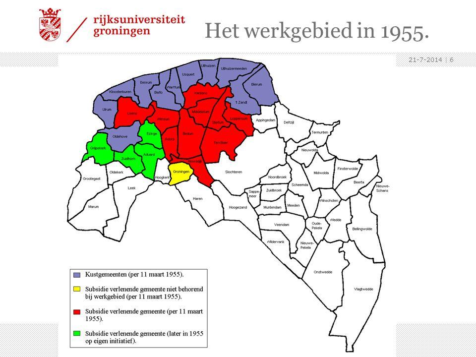 Het werkgebied in 1955. 4-4-2017.