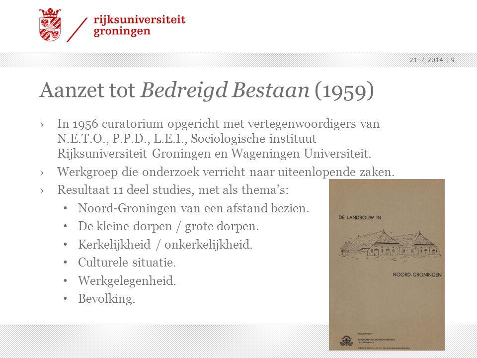 Aanzet tot Bedreigd Bestaan (1959)
