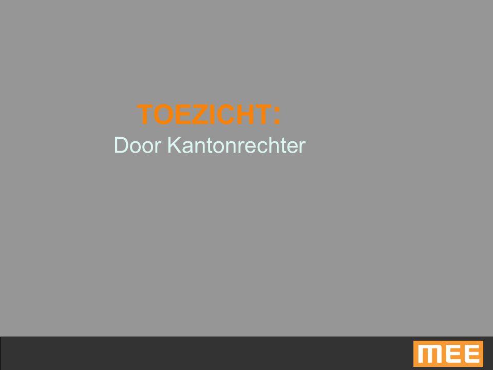 TOEZICHT: Door Kantonrechter