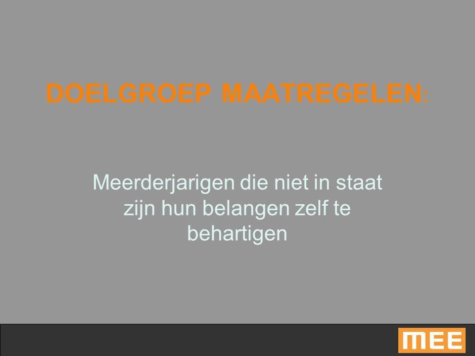 DOELGROEP MAATREGELEN: