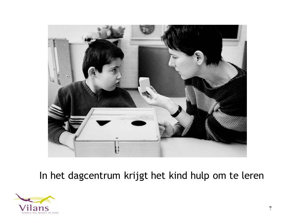 In het dagcentrum krijgt het kind hulp om te leren
