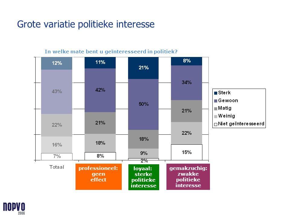 Grote variatie politieke interesse