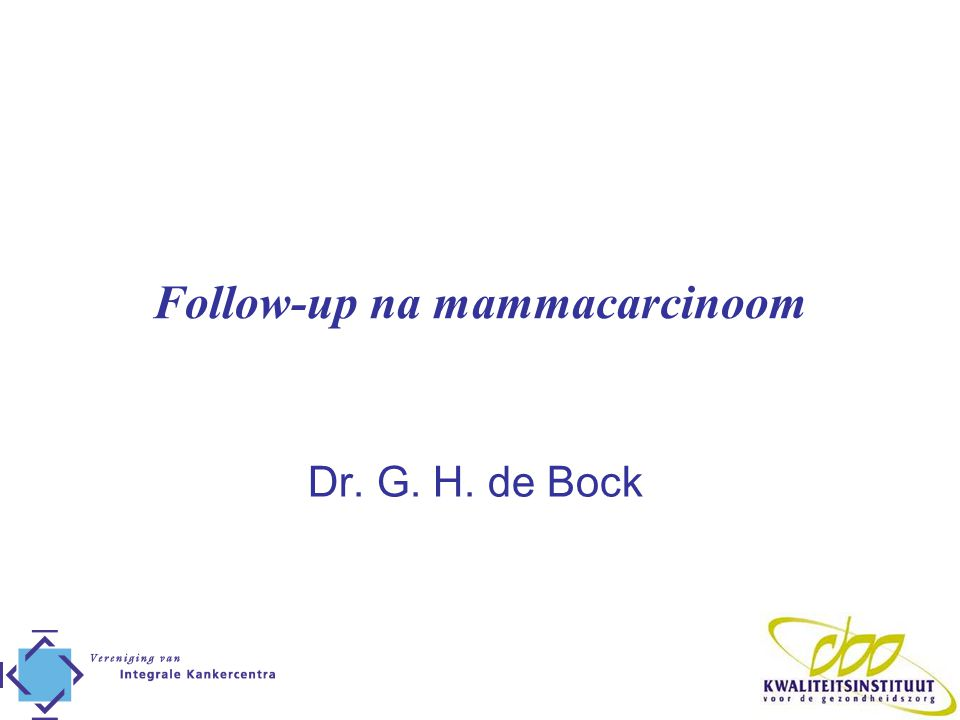 Follow-up na mammacarcinoom