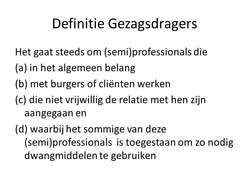 Definitie Gezagsdragers