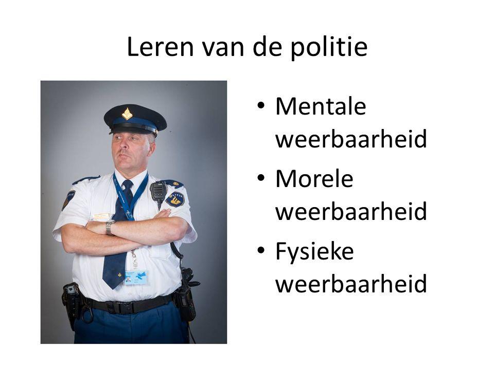 Leren van de politie Mentale weerbaarheid Morele weerbaarheid