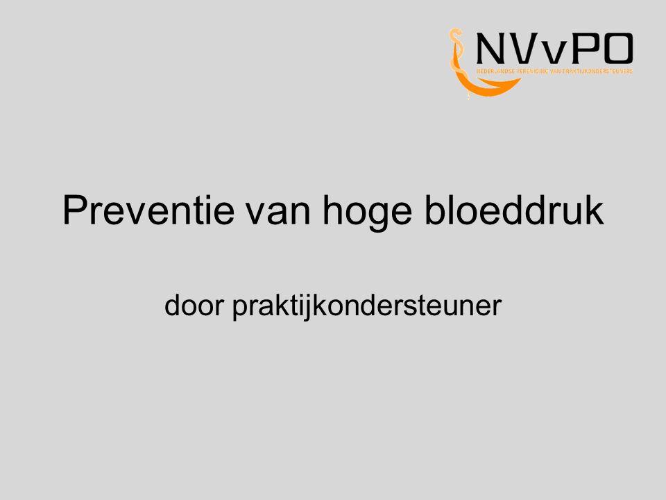 Preventie van hoge bloeddruk