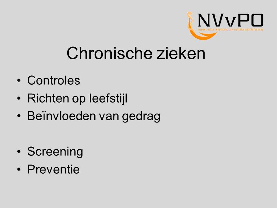 Chronische zieken Controles Richten op leefstijl