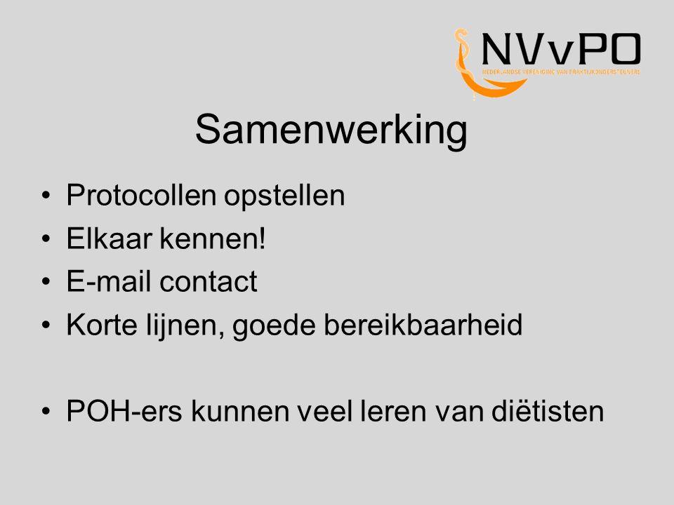 Samenwerking Protocollen opstellen Elkaar kennen! E-mail contact