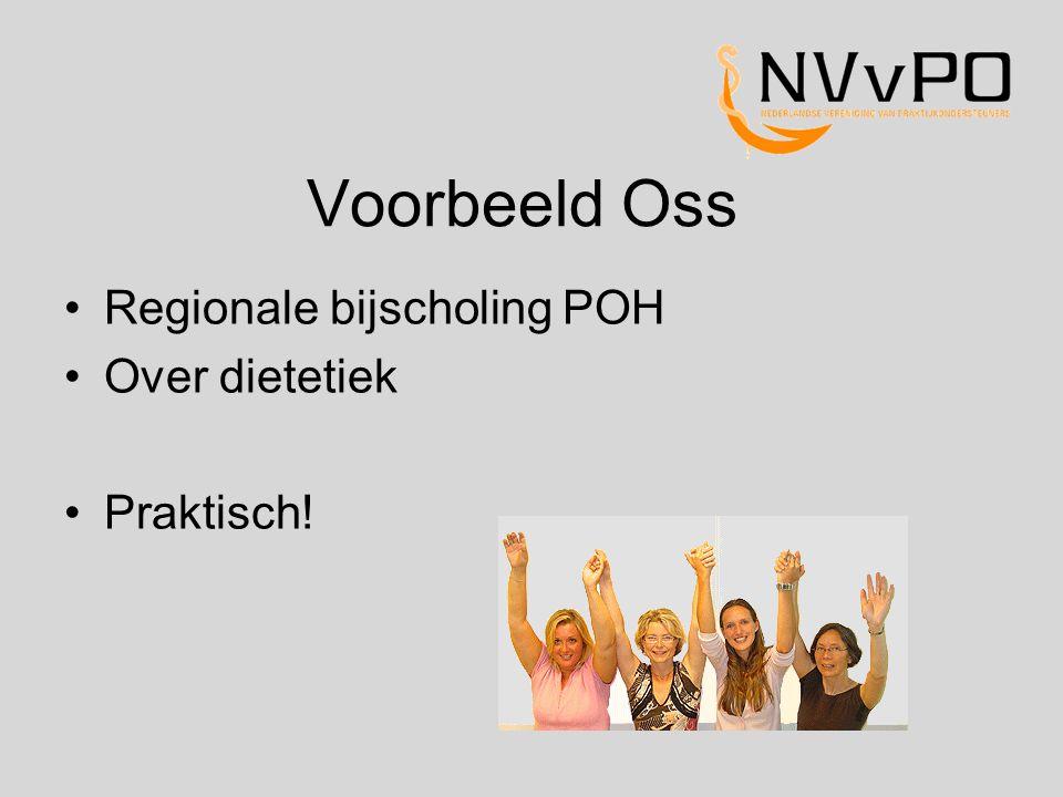Voorbeeld Oss Regionale bijscholing POH Over dietetiek Praktisch!