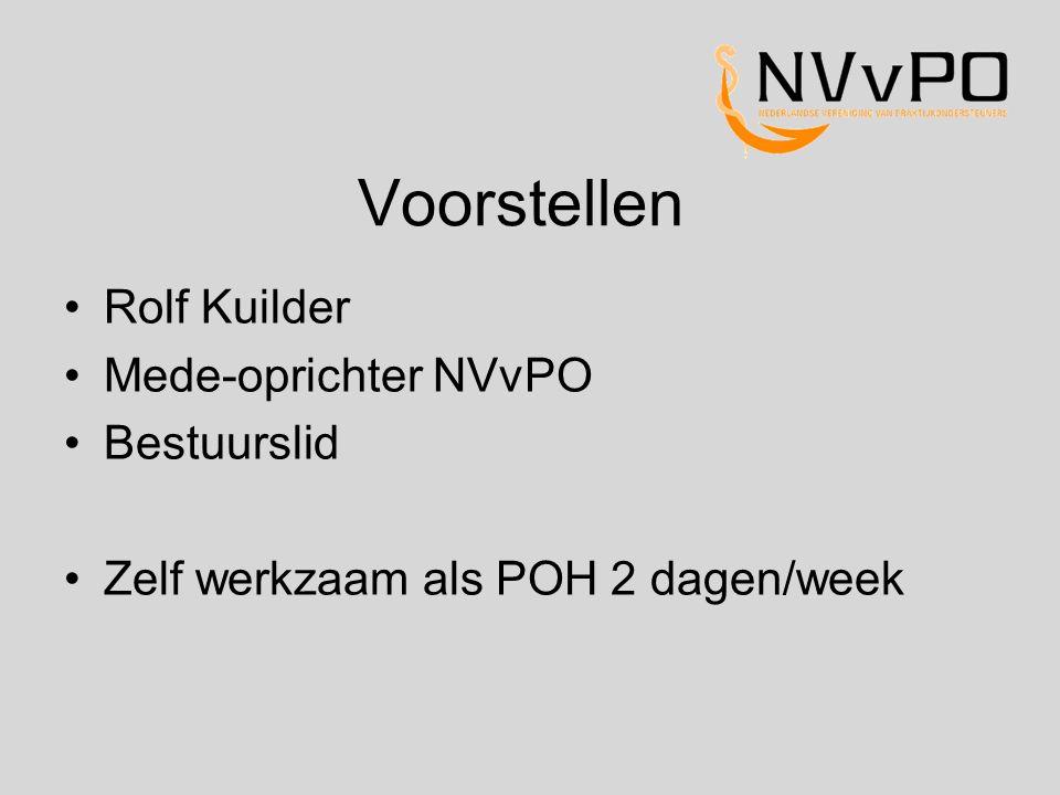 Voorstellen Rolf Kuilder Mede-oprichter NVvPO Bestuurslid