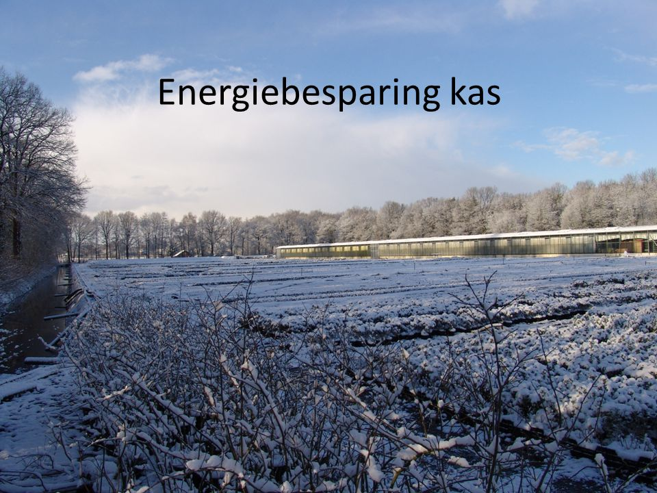 Energiebesparing kas