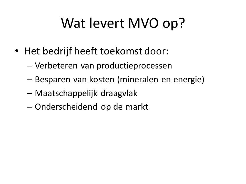 Wat levert MVO op Het bedrijf heeft toekomst door: