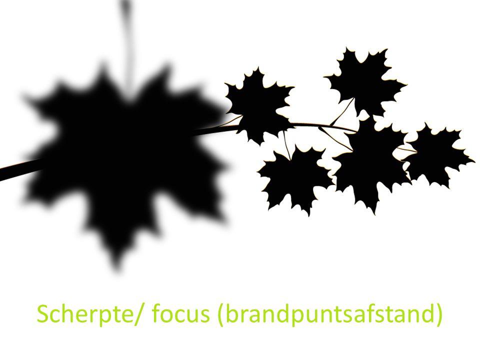Scherpte/ focus (brandpuntsafstand)