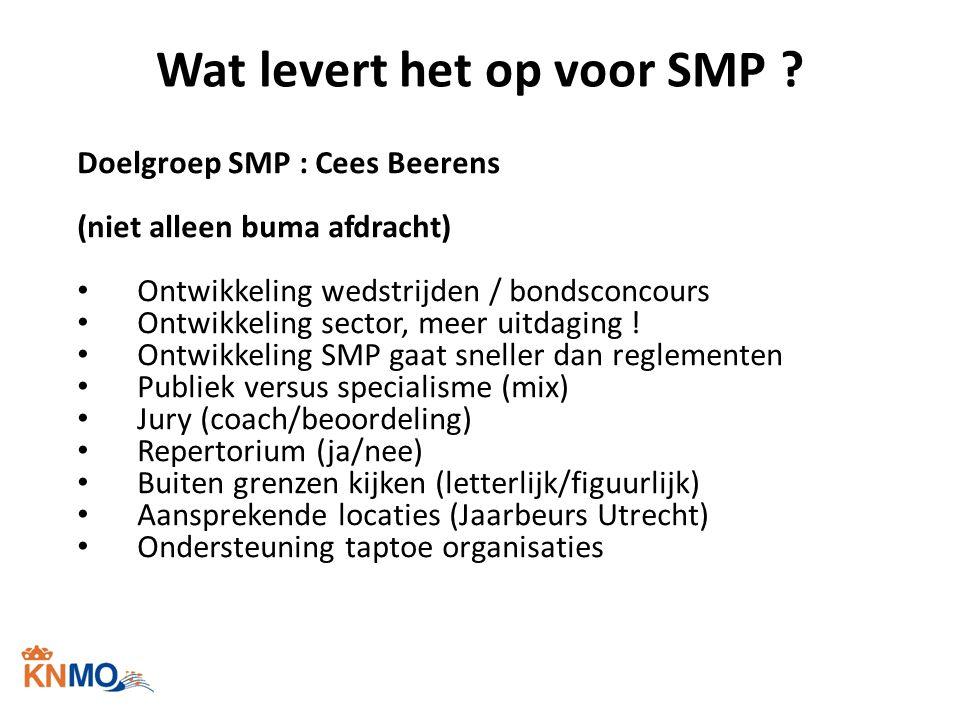 Wat levert het op voor SMP