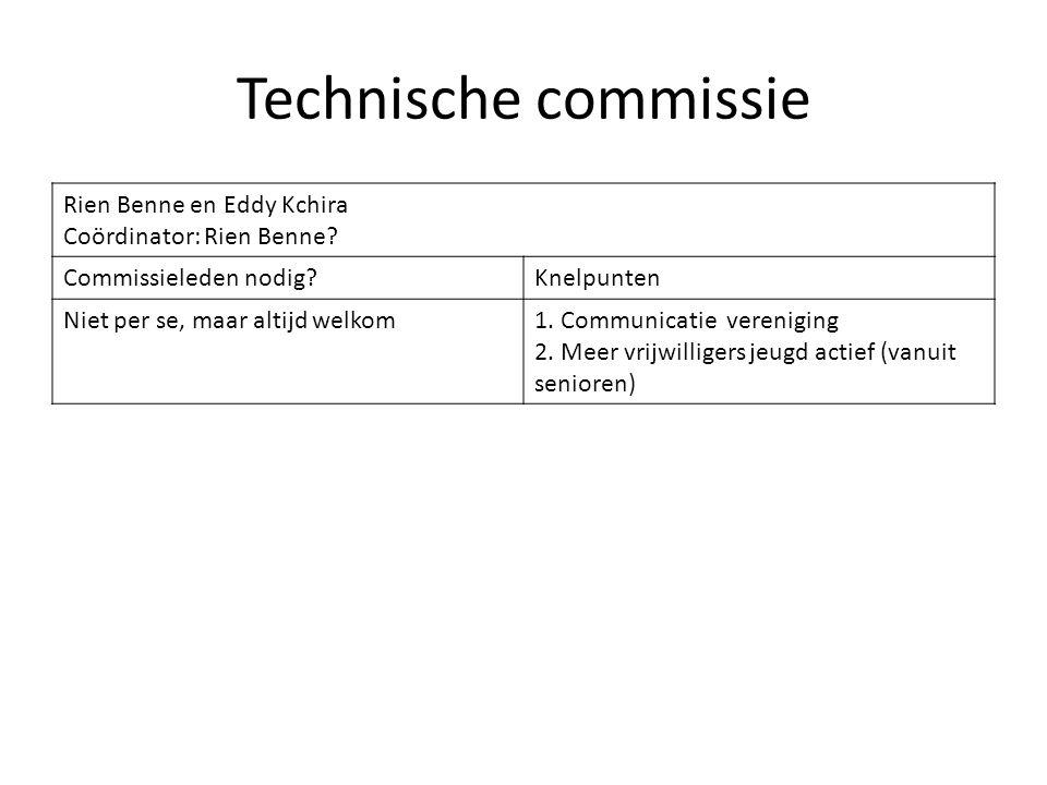 Technische commissie Rien Benne en Eddy Kchira