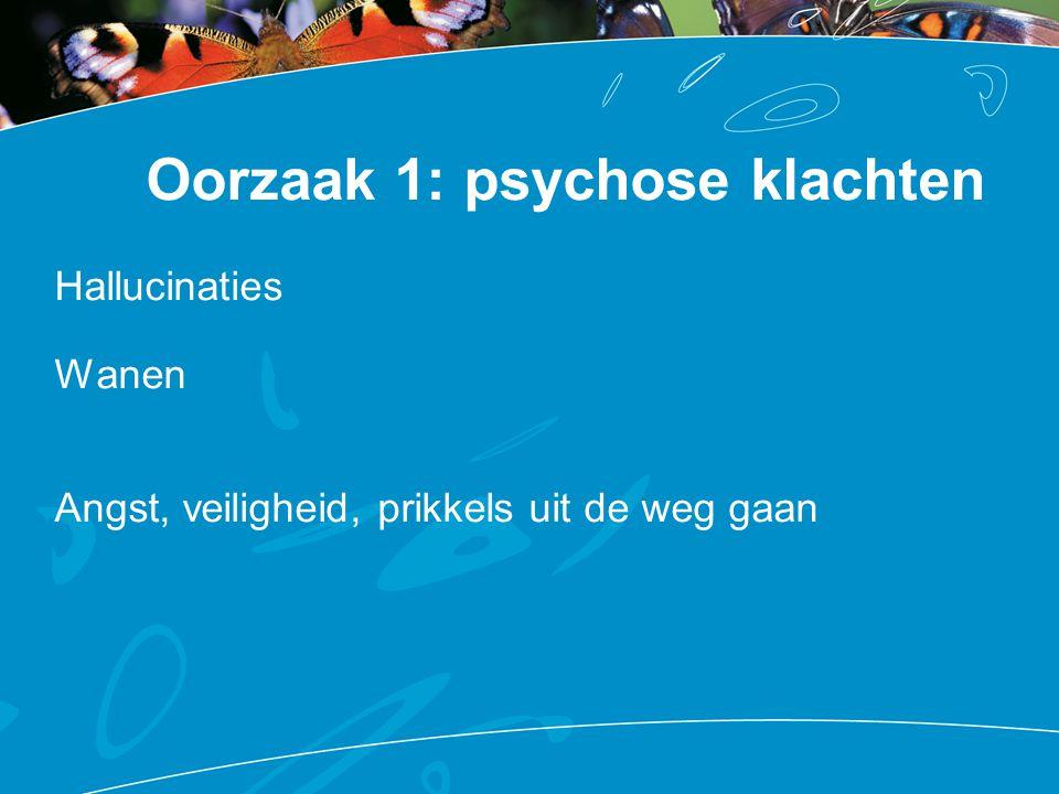 Oorzaak 1: psychose klachten