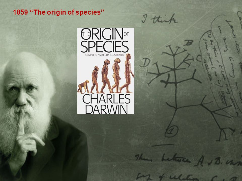 1859 The origin of species