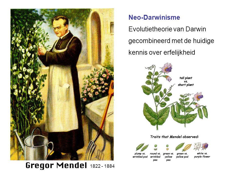 Evolutietheorie van Darwin gecombineerd met de huidige