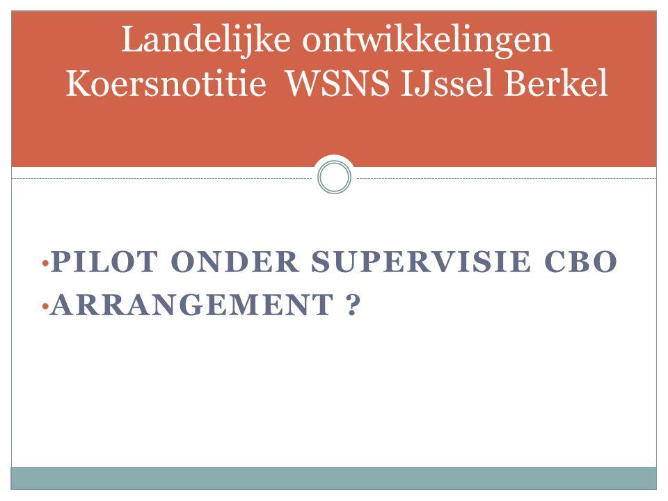 Landelijke ontwikkelingen Koersnotitie WSNS IJssel Berkel