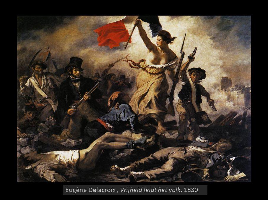 Eugène Delacroix , Vrijheid leidt het volk, 1830