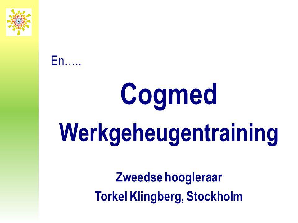 Werkgeheugentraining Torkel Klingberg, Stockholm