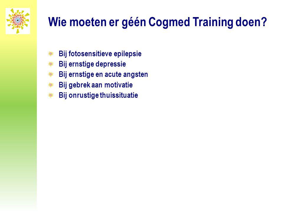 Wie moeten er géén Cogmed Training doen