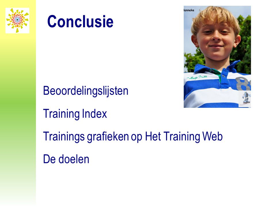Conclusie Beoordelingslijsten Training Index