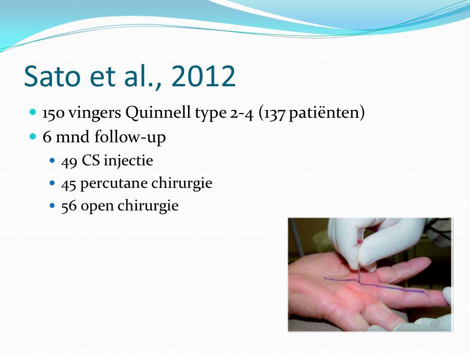 Sato et al., 2012 150 vingers Quinnell type 2-4 (137 patiënten)