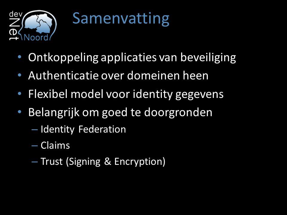 Samenvatting Ontkoppeling applicaties van beveiliging