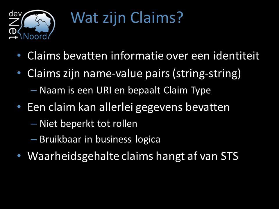 Wat zijn Claims Claims bevatten informatie over een identiteit