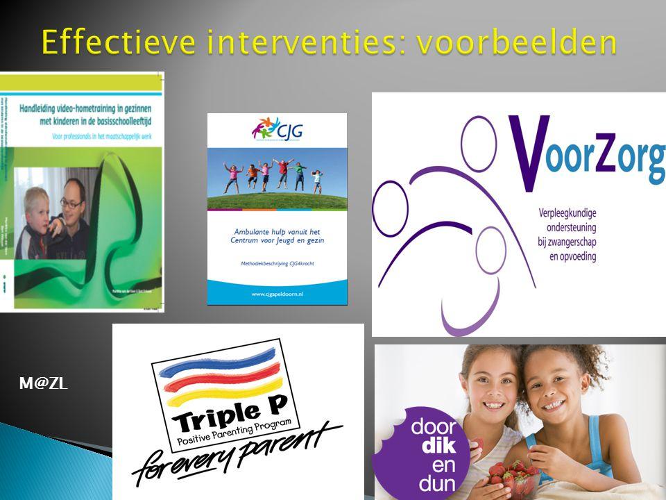 Effectieve interventies: voorbeelden