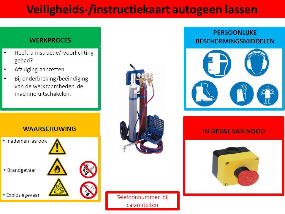 Veiligheids-/instructiekaart autogeen lassen