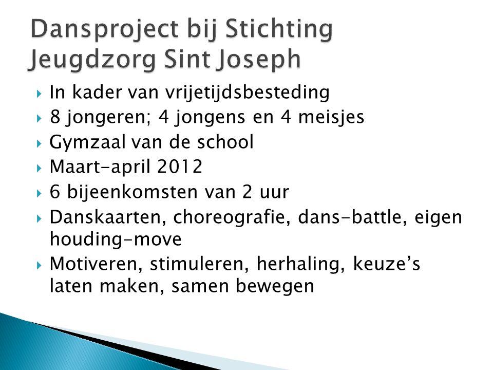 Dansproject bij Stichting Jeugdzorg Sint Joseph