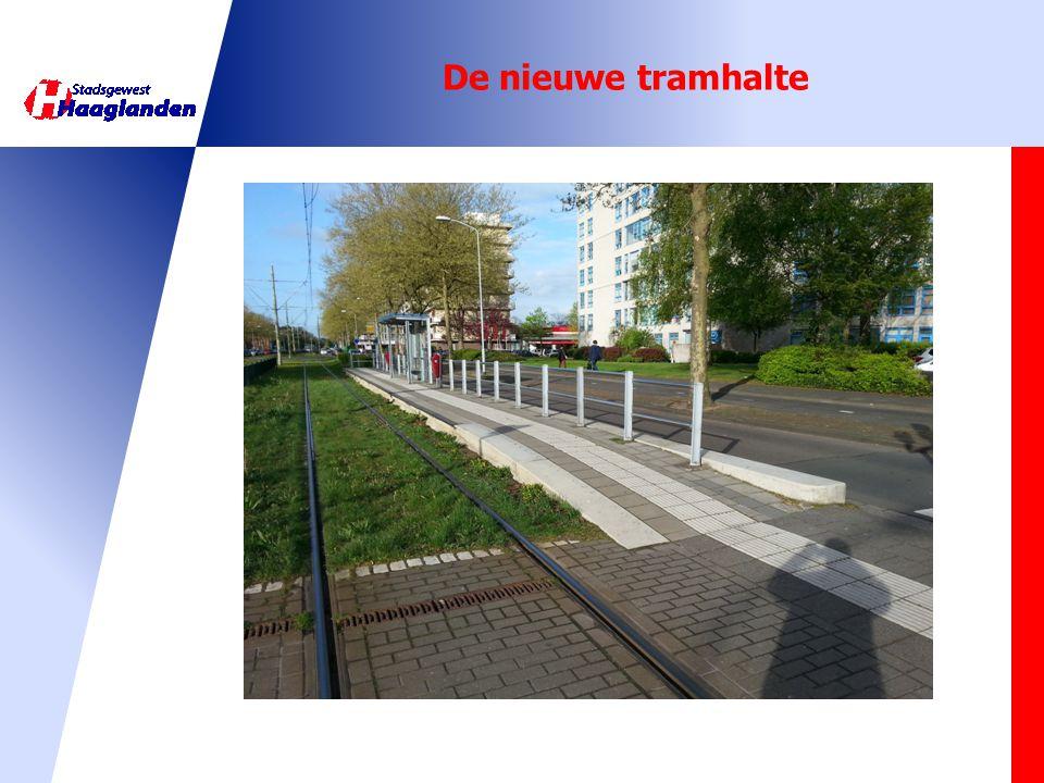 De nieuwe tramhalte