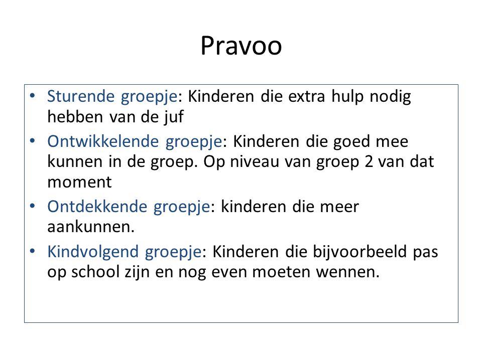 Pravoo Sturende groepje: Kinderen die extra hulp nodig hebben van de juf.