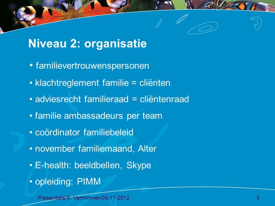 Niveau 2: organisatie familievertrouwenspersonen