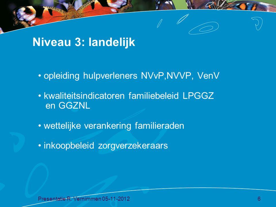 Niveau 3: landelijk opleiding hulpverleners NVvP,NVVP, VenV