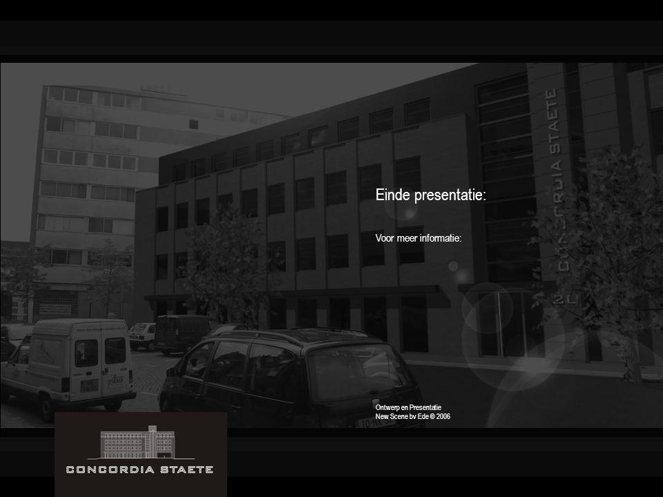 Einde presentatie: Voor meer informatie: Ontwerp en Presentatie